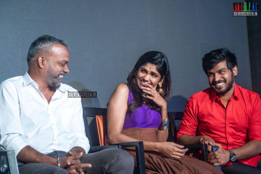 Gautham Menon and Niranjini Ahathian At The 'Kannum Kannum Kollaiyadithaal' Success Meet