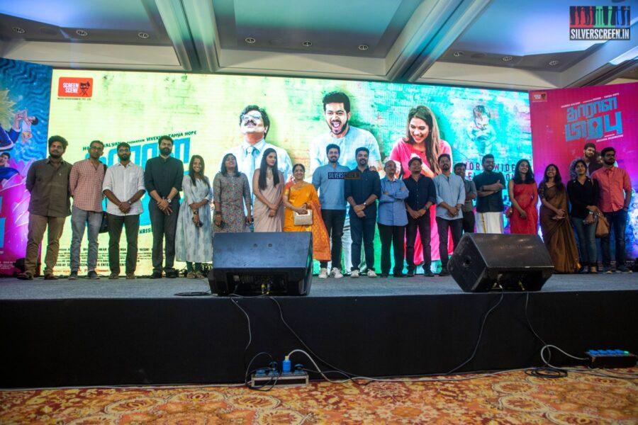 Harish Kalyan, Tanya Hope At The 'Dharala Prabhu' Press Meet