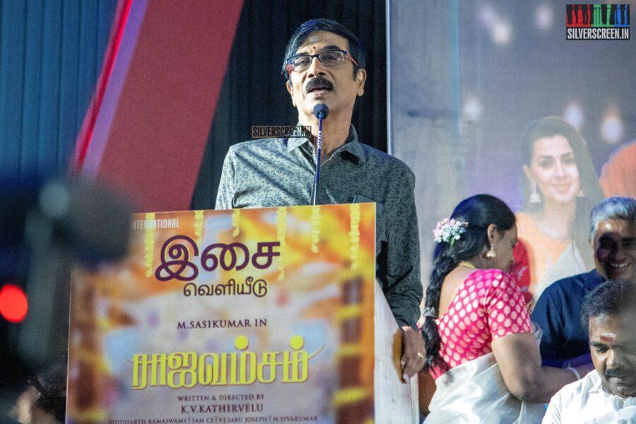 Manobala At The 'Rajavamsam' Audio Launch