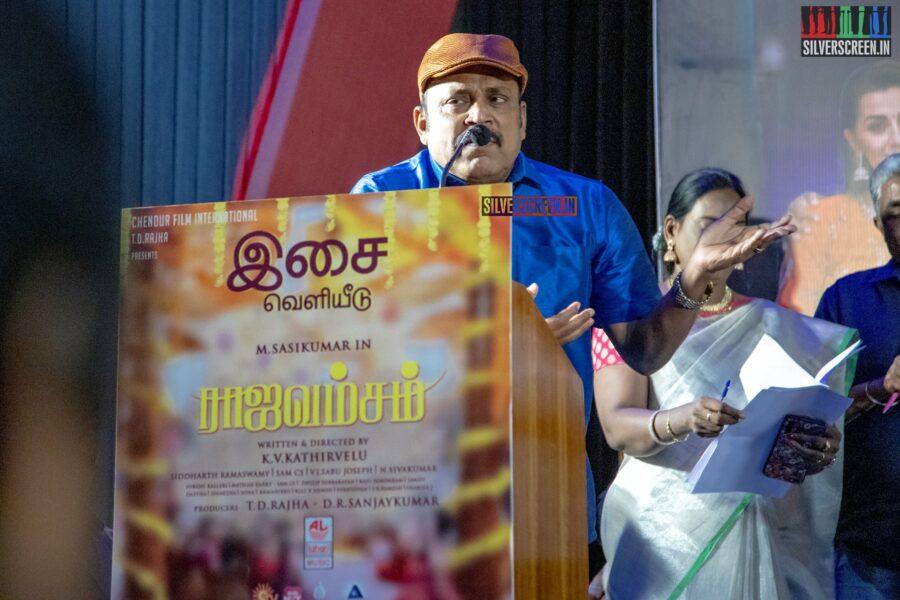 Thambi Ramaiah At The 'Rajavamsam' Audio Launch