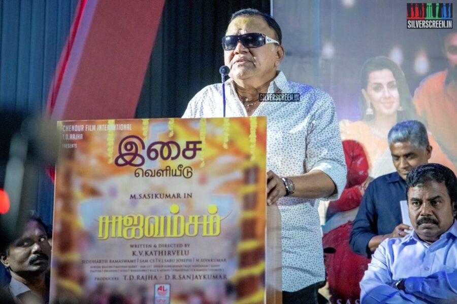 Radha Ravi At The 'Rajavamsam' Audio Launch
