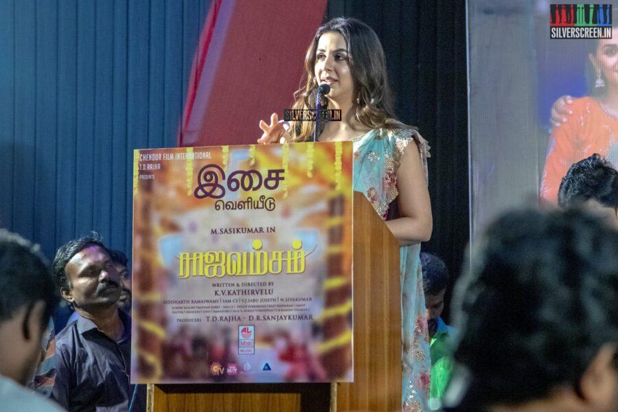 Nikki Galrani At The 'Rajavamsam' Audio Launch