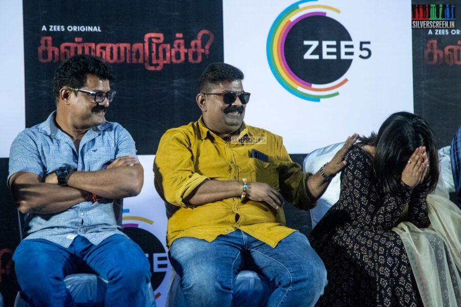 Poorna, Mysskin, Bose Venkat At The 'Kannamoochi' Press Meet