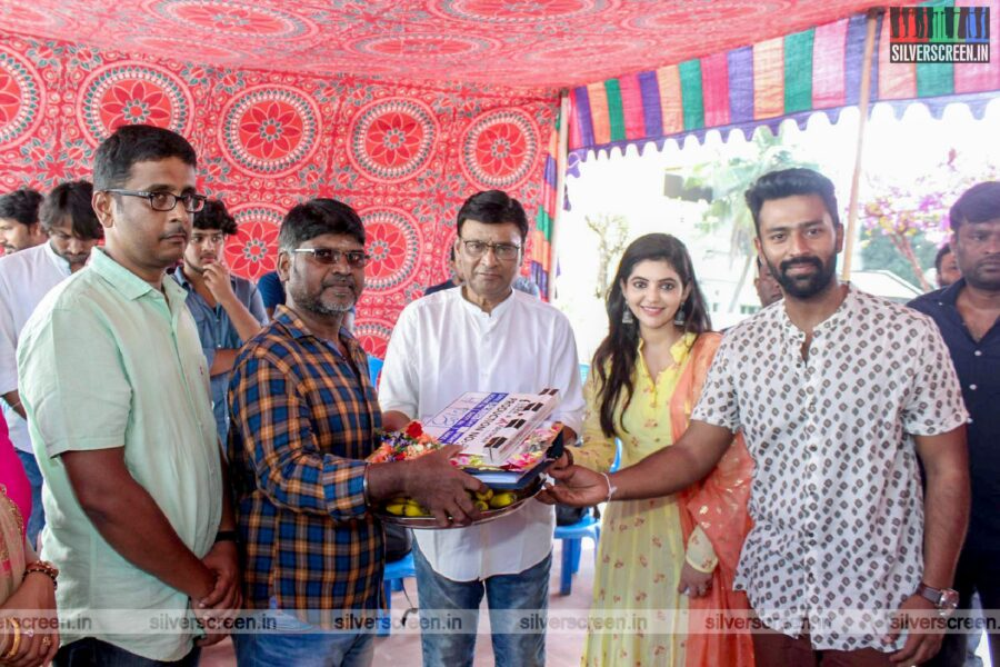 Shanthanu, Athulya Ravi, K Bhagyaraj At The Libra Productions Movie Launch