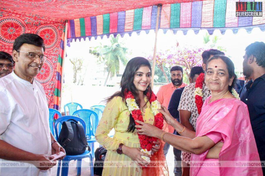Athulya Ravi, K Bhagyaraj At The Libra Productions Movie Launch