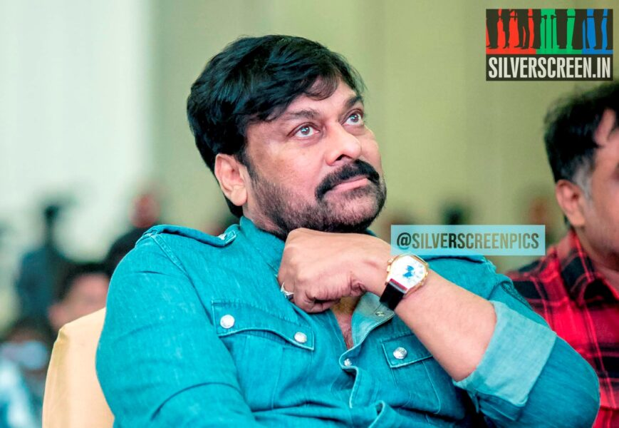 Chiranjeevi At The 'Sye Raa Narasimha Reddy' Press Meet