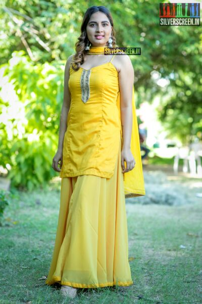 Srushti Dange At The 'Rajavukku Check' Audio Launch