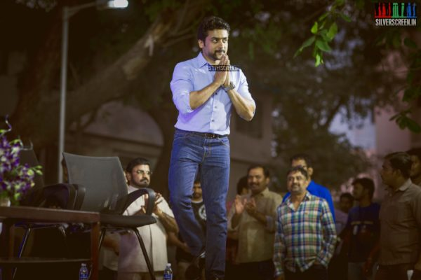 Suriya, then got on stage