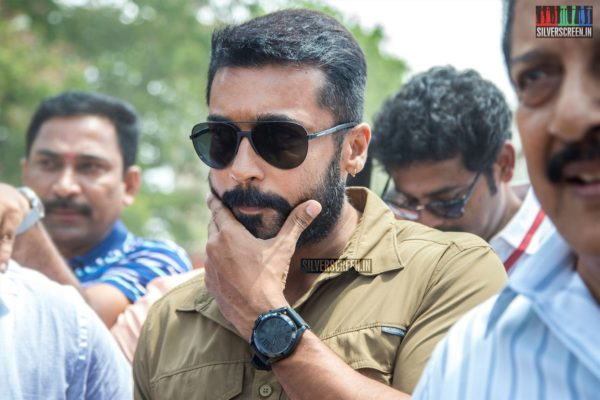 Suriya Votes In Nadigar Sangam Elections