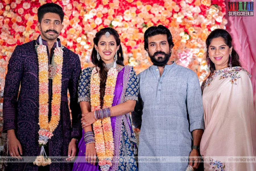 Ram Charan At Niharika Konidela And Chaitanya Jonnalagadda's Engagement