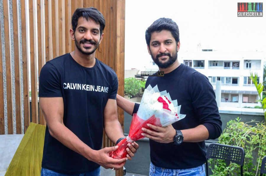 Nani At The Launch Of 'Veyi Subhamulu Kalugu Neeku' Motion Poster