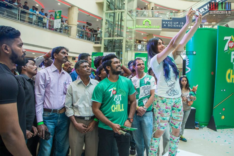 Adah Sharma And Popular Mascot Launches Soft Drink Brand's New Campaign At Chennai.