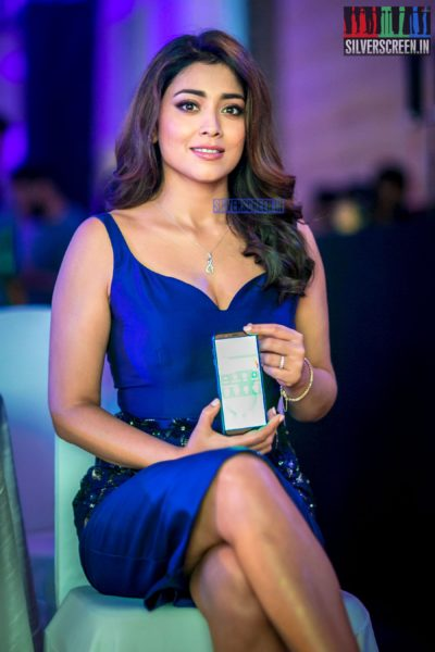 Shriya Saran Dazzles In A Rajat Tangri Dress At A Product Launch In Chennai