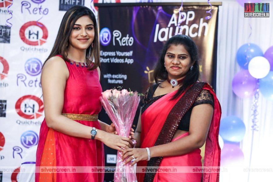 Indhuja Ravichandran At An App Launch In Chennai