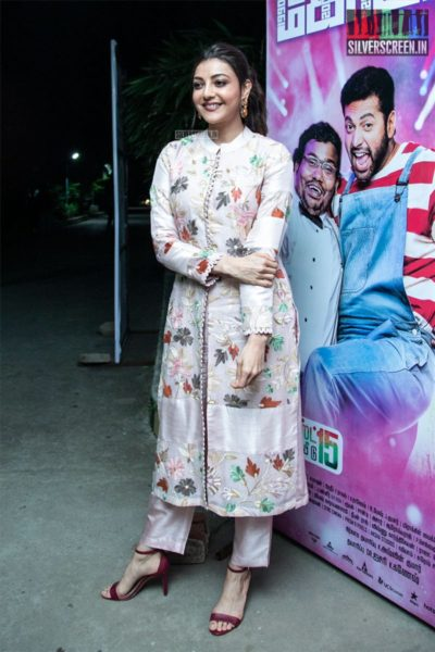 Kajal Aggarwal At The 'Comali' Press Meet