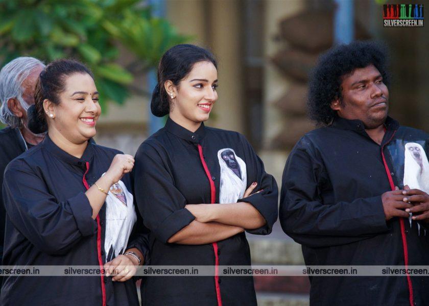 Pei Mama Movie Stills Starring Yogi Babu, Malavika Menon