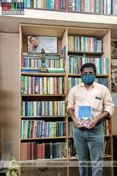 P. Ponmariappan in his library salon.