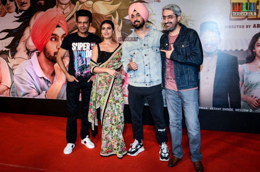 Diljit Dosanjh, Fatima Sana Shaikh At The Suraj Pe Mangal Bhari Premiere