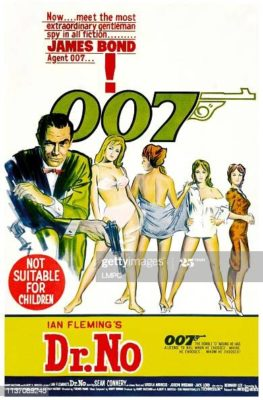 Dr. No, poster, Sean Connery 1962. (Photo by LMPC via Getty Images)