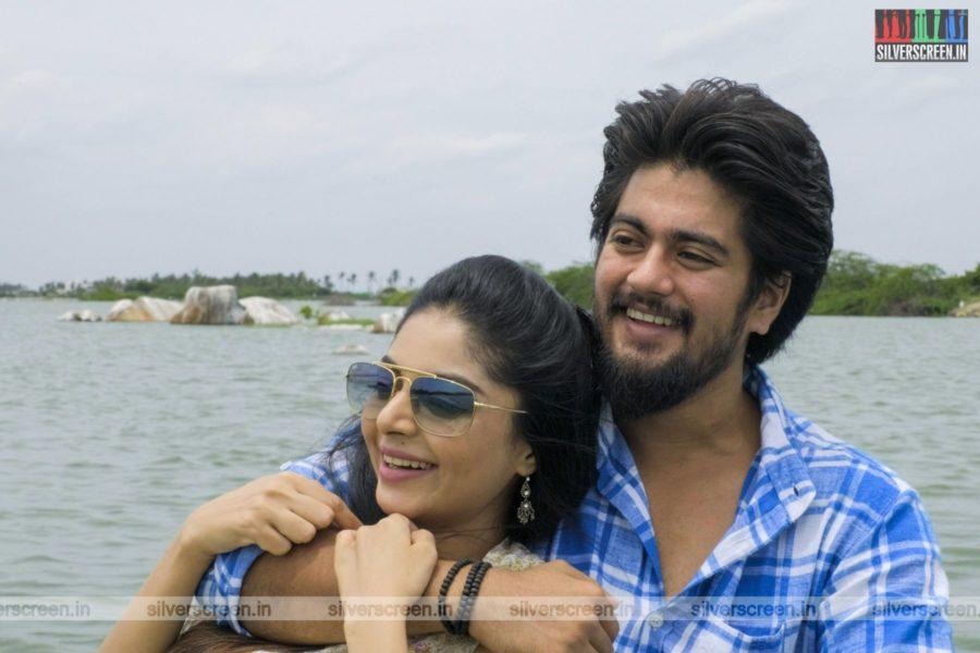 Ethirvinaiyatru Movie Stills Starring Sanam Shetty
