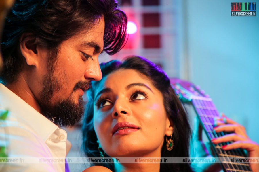 Ethirvinaiyatru Movie Stills Starring Sanam Shetty