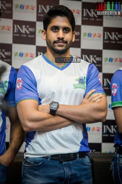 Naga Chaitanya at CBL Telugu Thunders Team Jersey Launch
