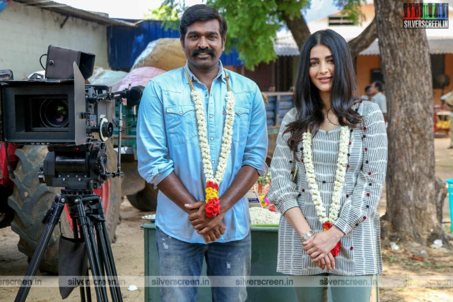 Vijay Sethupathi, Shruti Haasan At The 'Laabam' Movie Launch