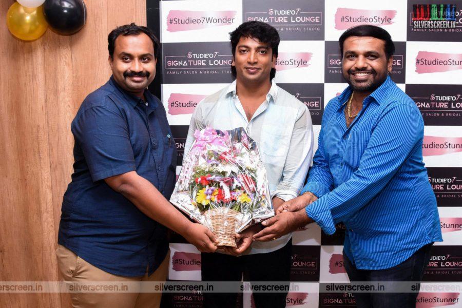 Kalaiarasan At A Salon Launch In Chennai