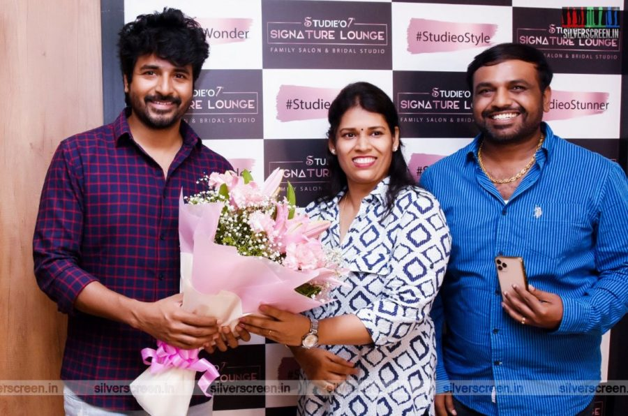 Sivakarthikeyan At A Salon Launch In Chennai