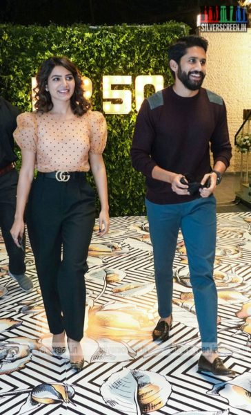 Samantha Akkineni & Naga Chaitanya At Dil Raju's 50th Birthday Party