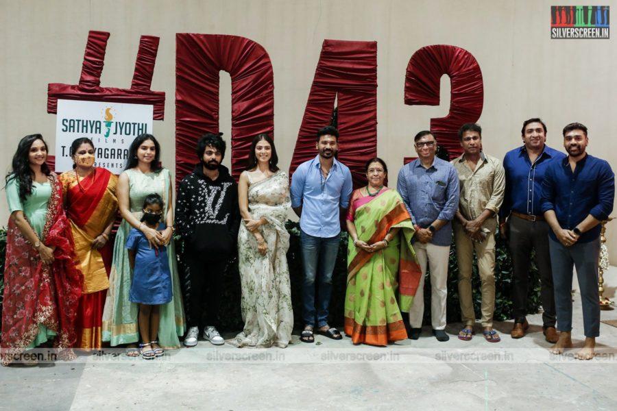 Dhanush, Malavika Mohanan, GV Prakash Kumar  At The D 43 Movie Launch