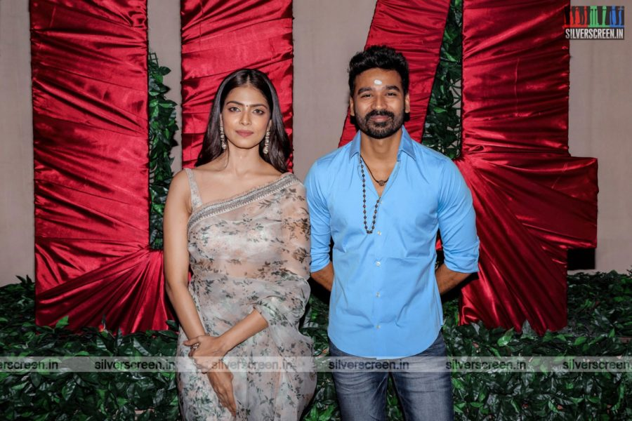 Dhanush, Malavika Mohanan  At The D 43 Movie Launch