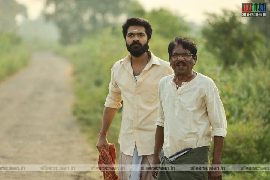 Eeswaran Movie Stills Starring Silambarasan, P Bharathiraja