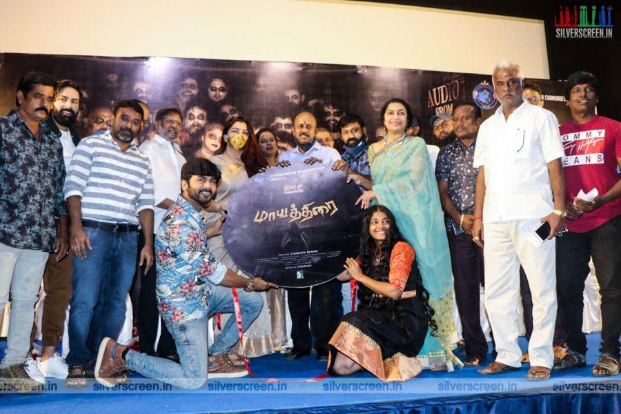 Kushboo, Suhasini Mani Ratnam At The Maayathirai Audio Launch