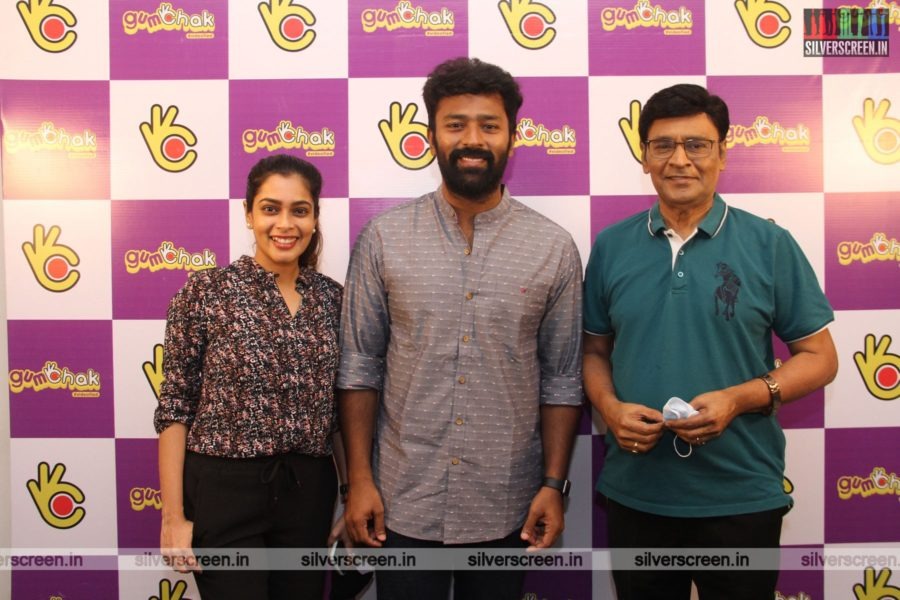 Shanthnu and Bhagyaraj At The Gumchak Studio Launch In Chennai