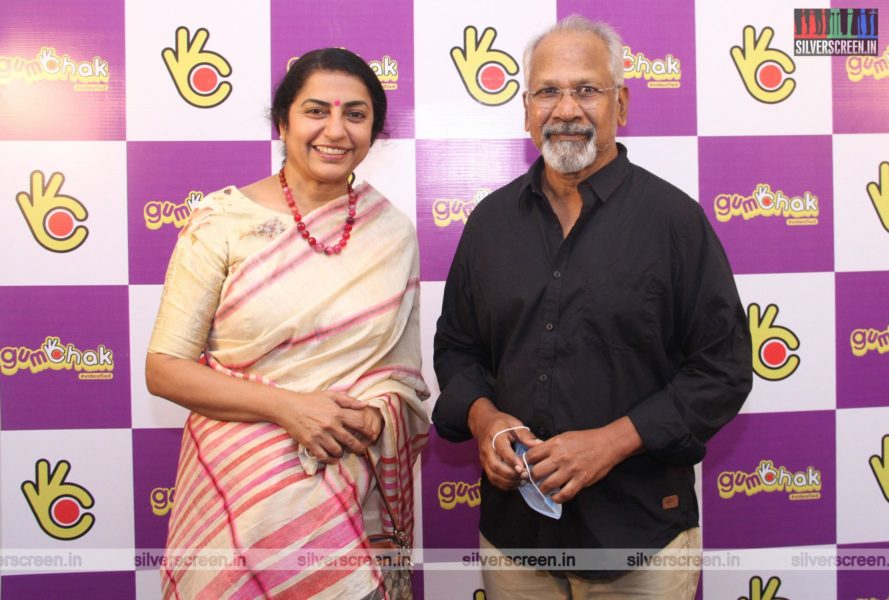 Suhasini Mani Ratnam and Mani Ratnam At The Gumchak Studio Launch In Chennai