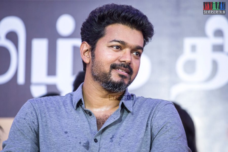 Vijay At The Nadigar Sangam Protest