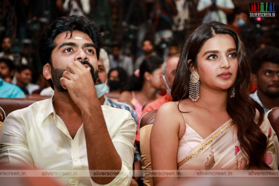 Nidhhi Agerwal, Silambarasan At The Eeswaran Audio Launch