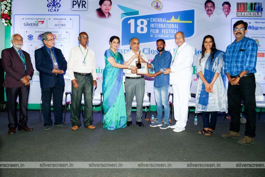 Aishwarya Rajesh At The 18th Chennai International Film Festival Awards & Closing function