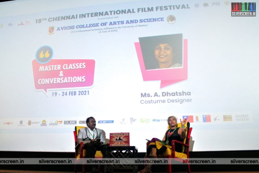 Costume Designer Dhatsha At The 3rd Day Of 18th Chennai International Film Festival