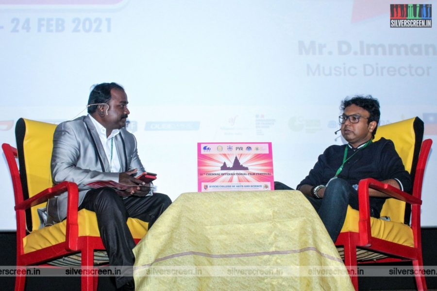 D Imman At The 2nd Day of 18th Chennai International Film Festival