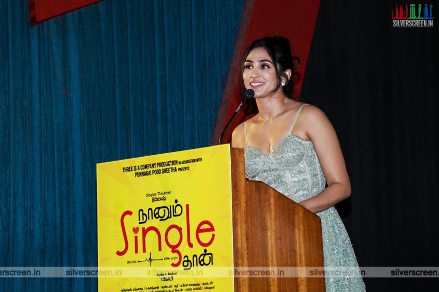 Deepti Sati At The Naanum Single Thaan Press Meet