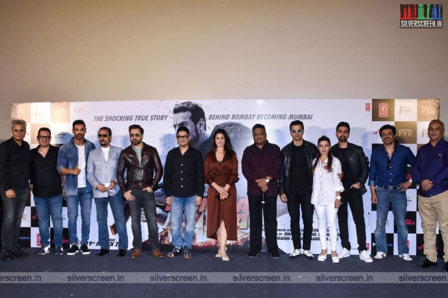 John Abraham, Anjana Sukhani, Emraan Hashmi at the Mumbai Saga Trailer Launch