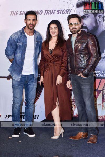 John Abraham, Anjana Sukhani, Emraan Hashmi at the Mumbai Saga Trailer Launch