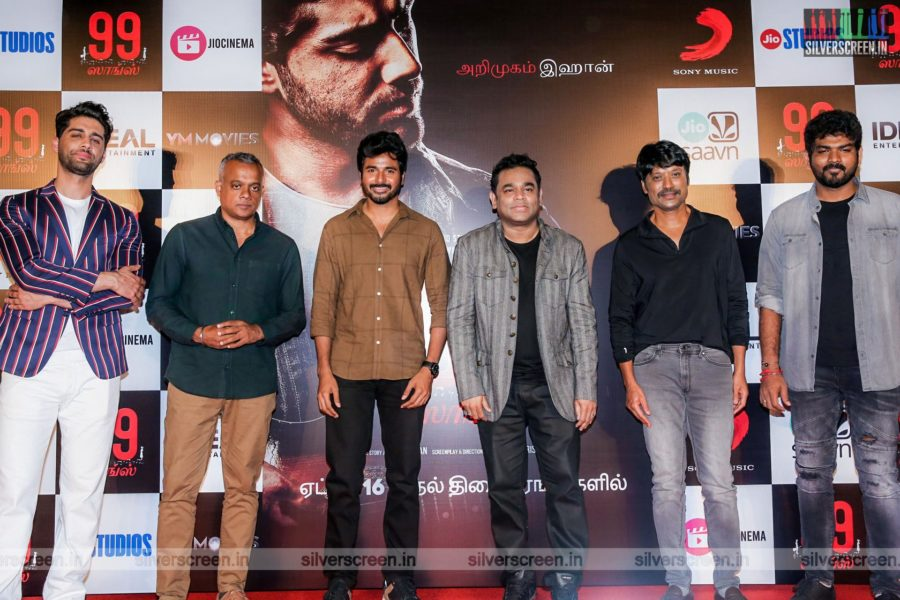 AR Rahman, Goutham Menon, Sivakarthikeyan, SJ Suryah At The 99 Songs Audio Launch
