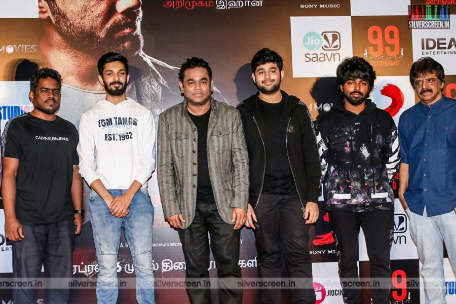 Anirudh, Yuvan Shankar Raja, AR Rahman, GV Prakash Kumar At The 99 Songs Audio Launch
