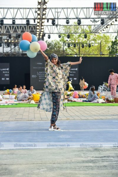 Model Walks The Ramp For Payal Singhal At The Lakme Fashion Week 2021
