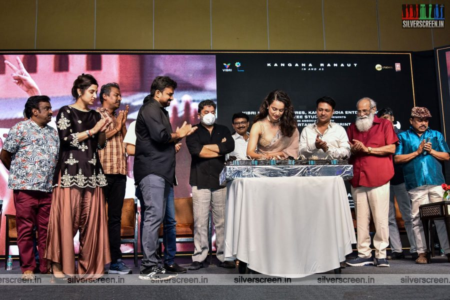 Kangana Ranaut, Arvind Swami At The Thalaivi Trailer Launch In Chennai