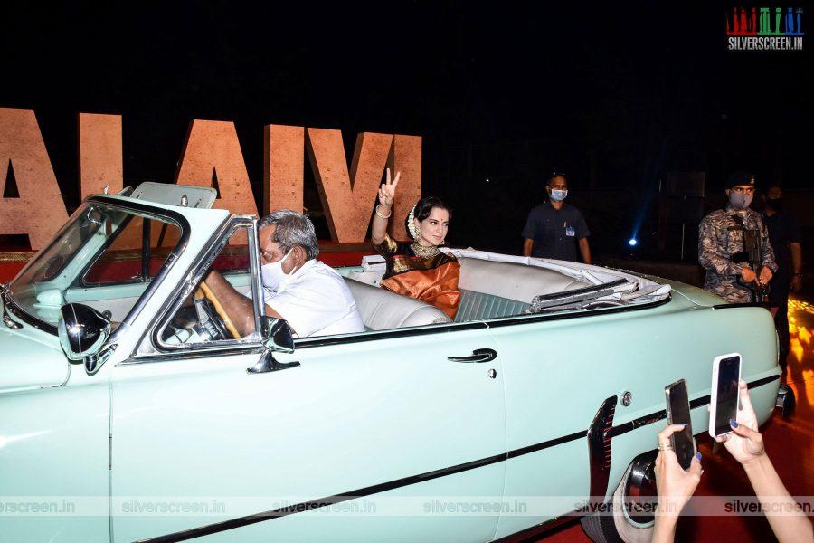 Kangana Ranaut At The Thalaivi Trailer Launch In Mumbai