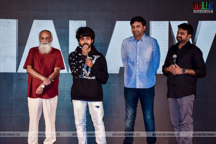 Director Vijay,  GV Prakash Kumar At The Thalaivi Trailer Launch In Mumbai